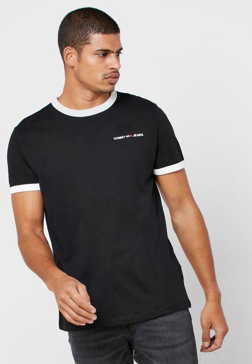 Ringer Logo Crew Neck T-Shirt