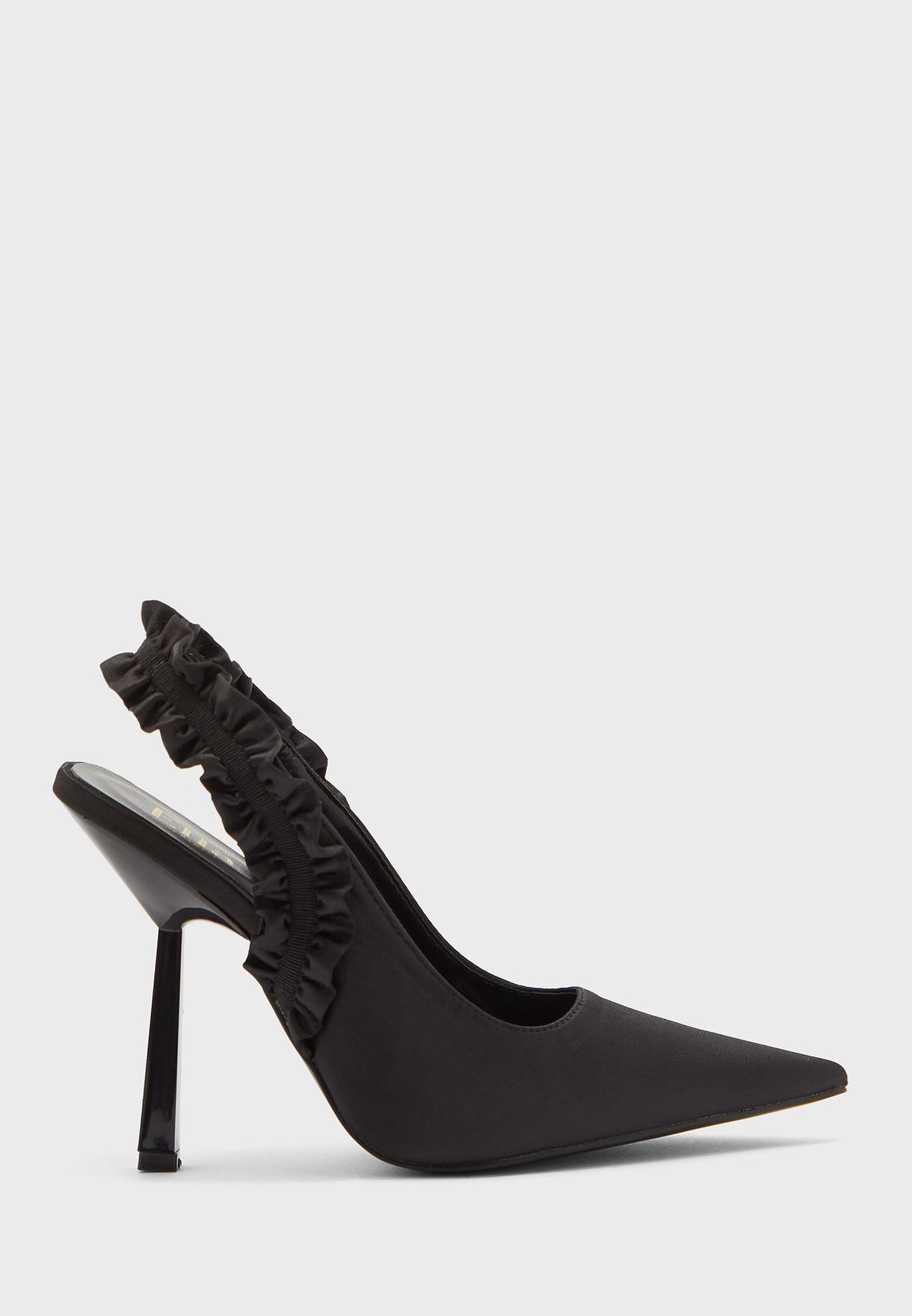 Frill Edge Slingback Pointed Pump