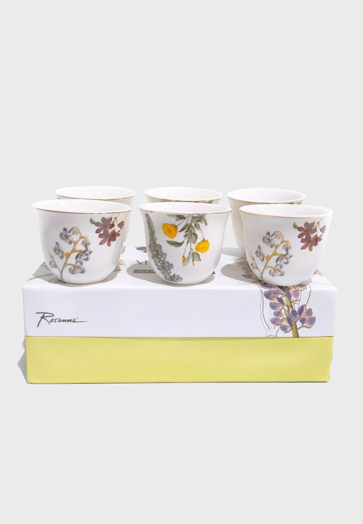 6 Pack Floral Chaffe Cups
