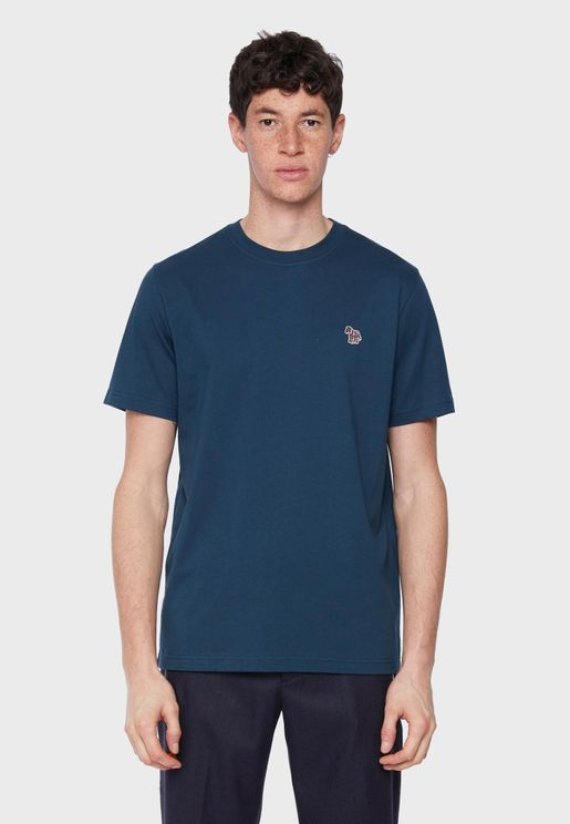 Zebra Logo Crew Neck T-Shirt