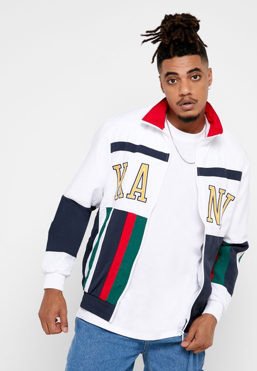 College Block Track Jacket