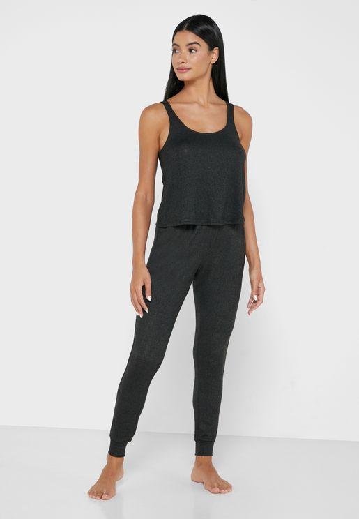 Ava Lounge Vest & Jogger Set