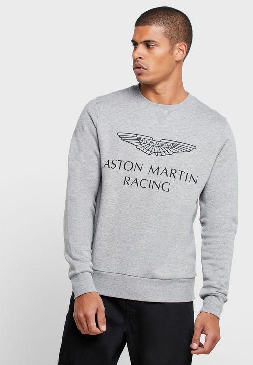سويت شيرت بشعار سباق أستون مارتن