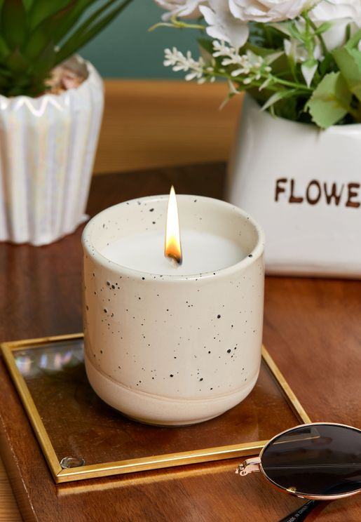Absolute Linen Speckle Candle