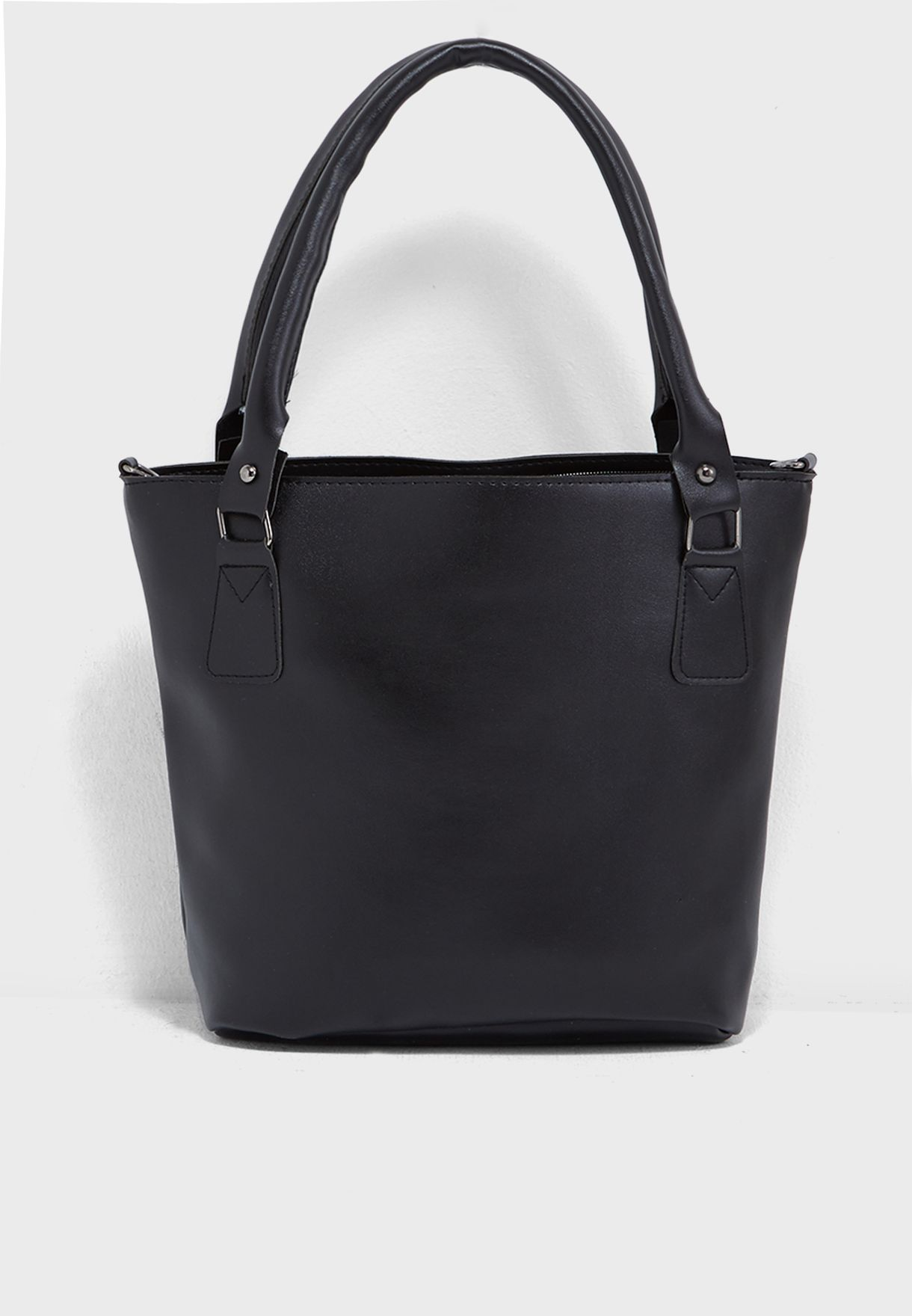 Tote Bag With Pocket Detail