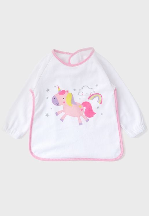 Unicorn Long Sleeve Bib