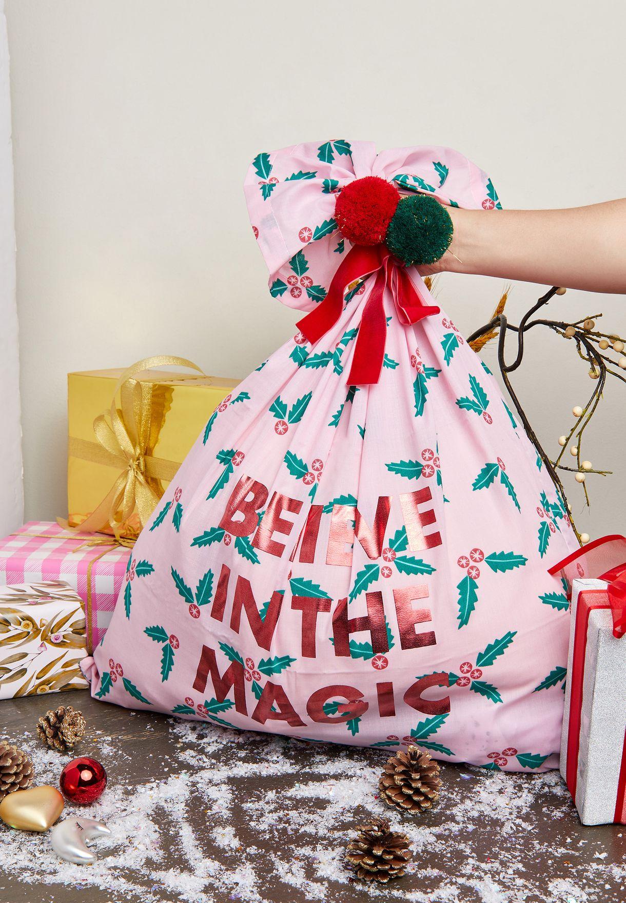 Kids Slogan Santa Sack