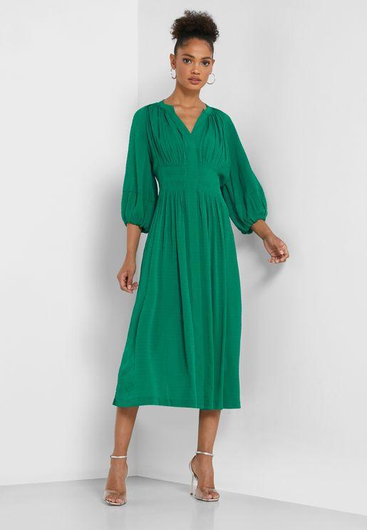 Cora Shirred Waist Dress