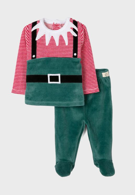 Infant Christmas Elf Pyjama Set