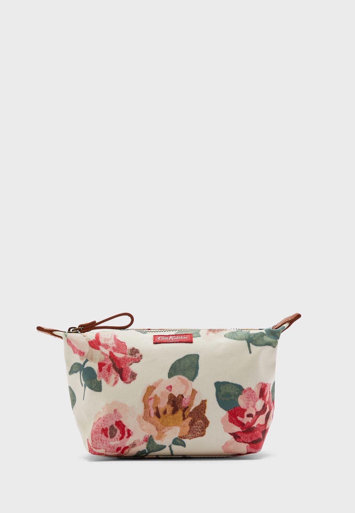 Flower Print Cosmetic Bag