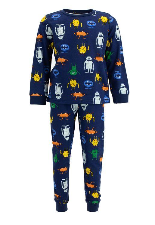 Kids Monster Print Pyjama Set