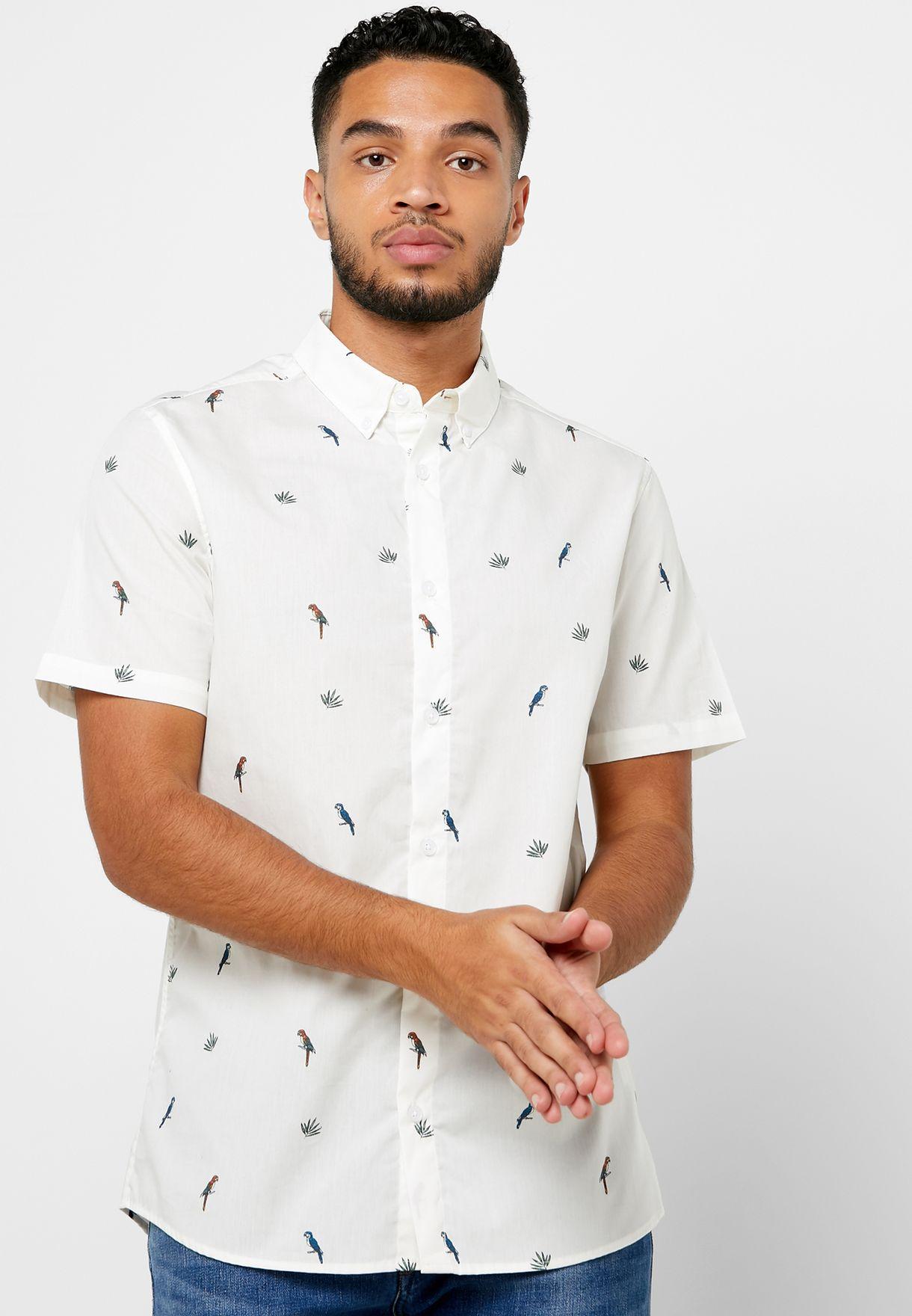 Parrot Print Shirt