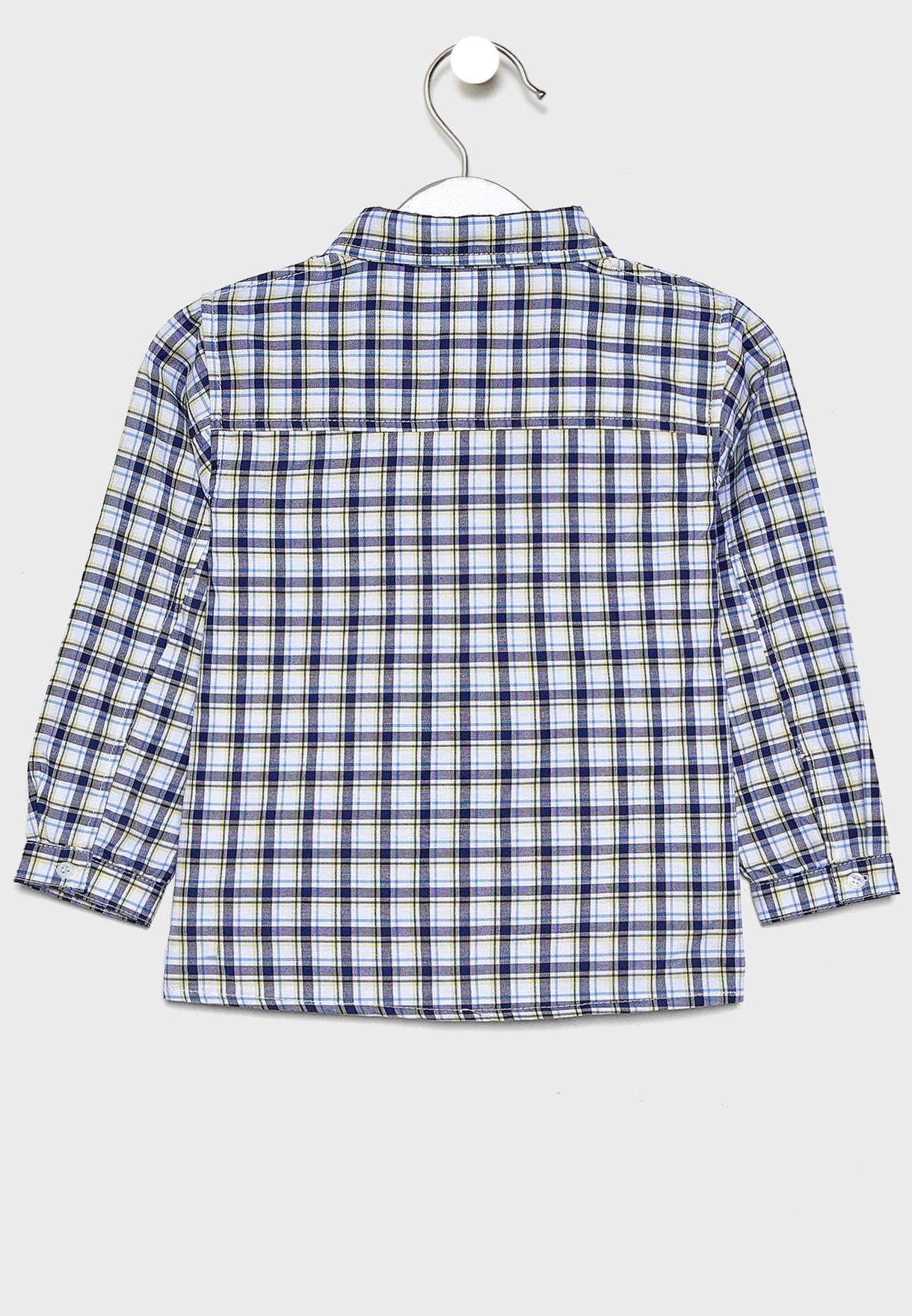 Little Check Shirt + Jeans Set