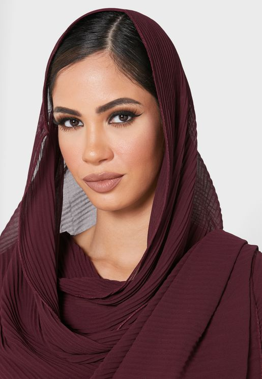 Pleated Chiffon Hijab Headscarf