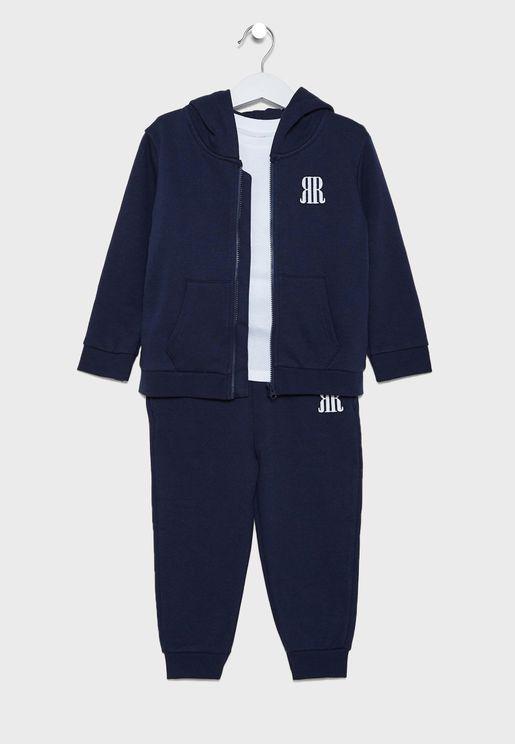 Kids Logo Hoodie + Sweatpants Set
