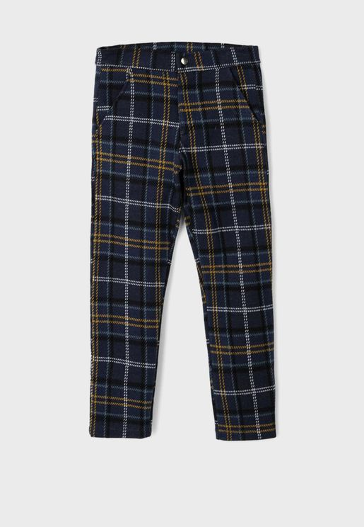 Kids Checked Trousers