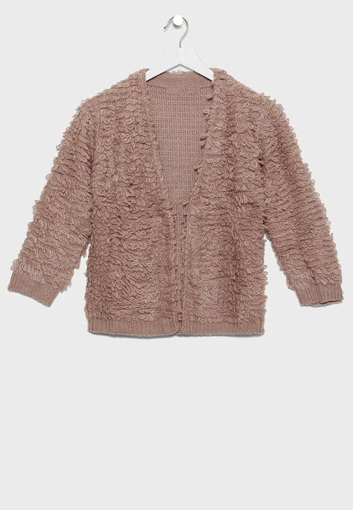 Kids Curly Cardigan