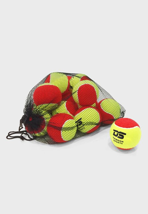 12 Pack Low Bounce Tennis Balls