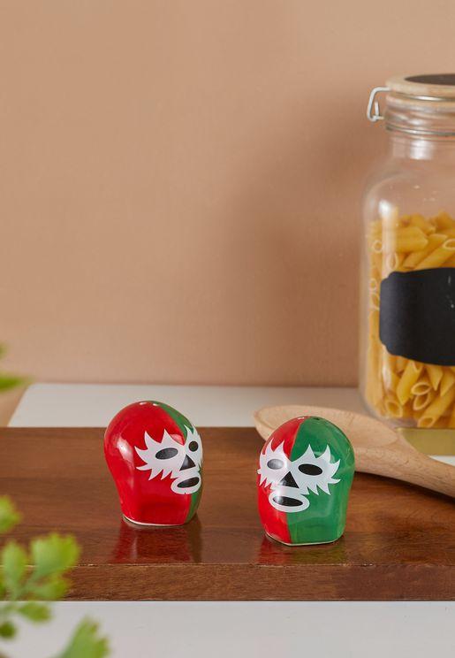 Dos Luchadores Salt & Pepper Shakers