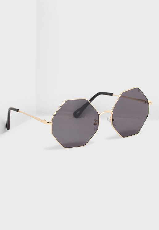 636e72ca024 Oversized Hexagonal Sunglasses