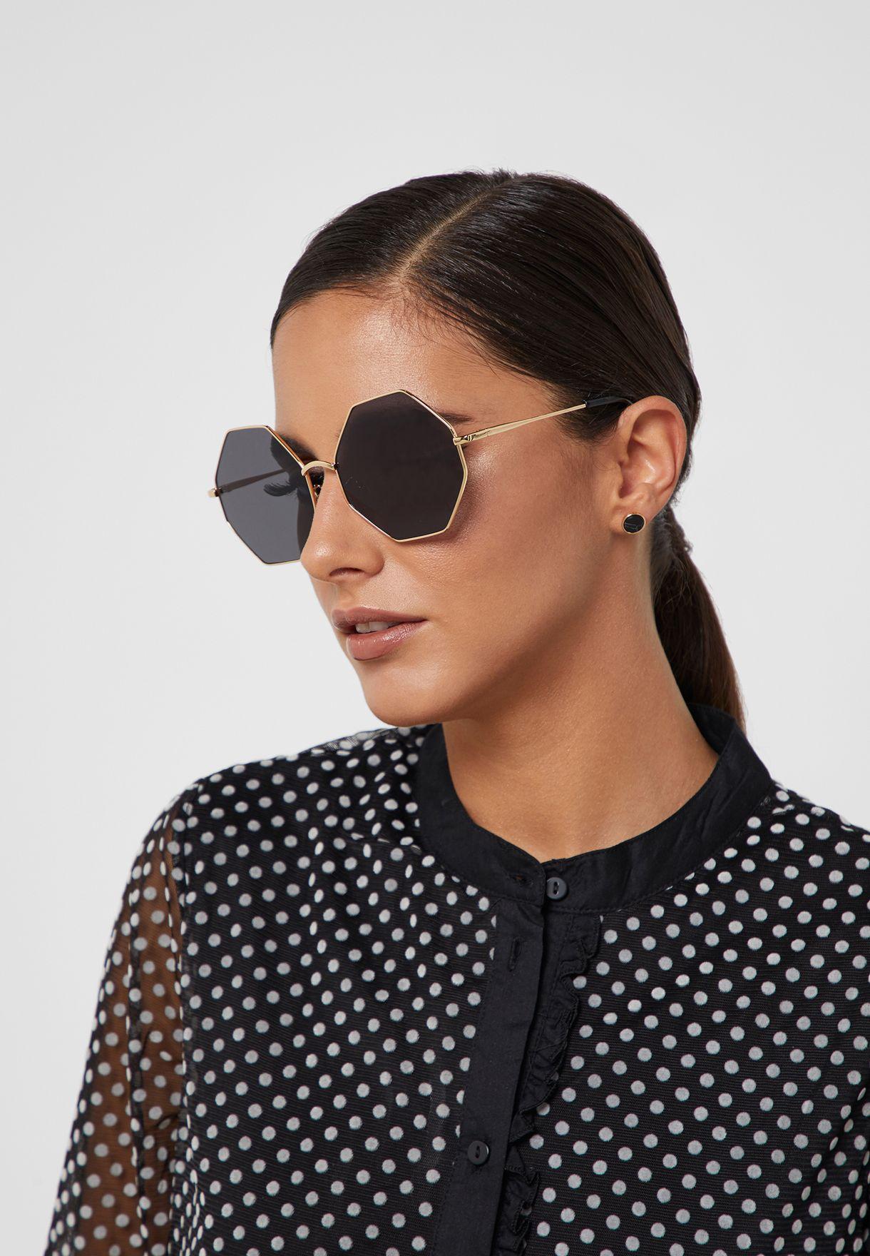 Oversized Octagonal Sunglasses