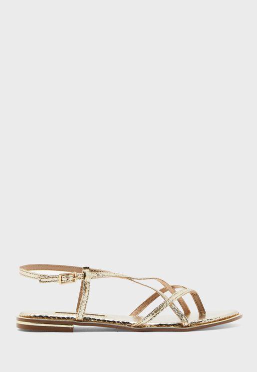 Fresh Ankle Strap Flat Sandal