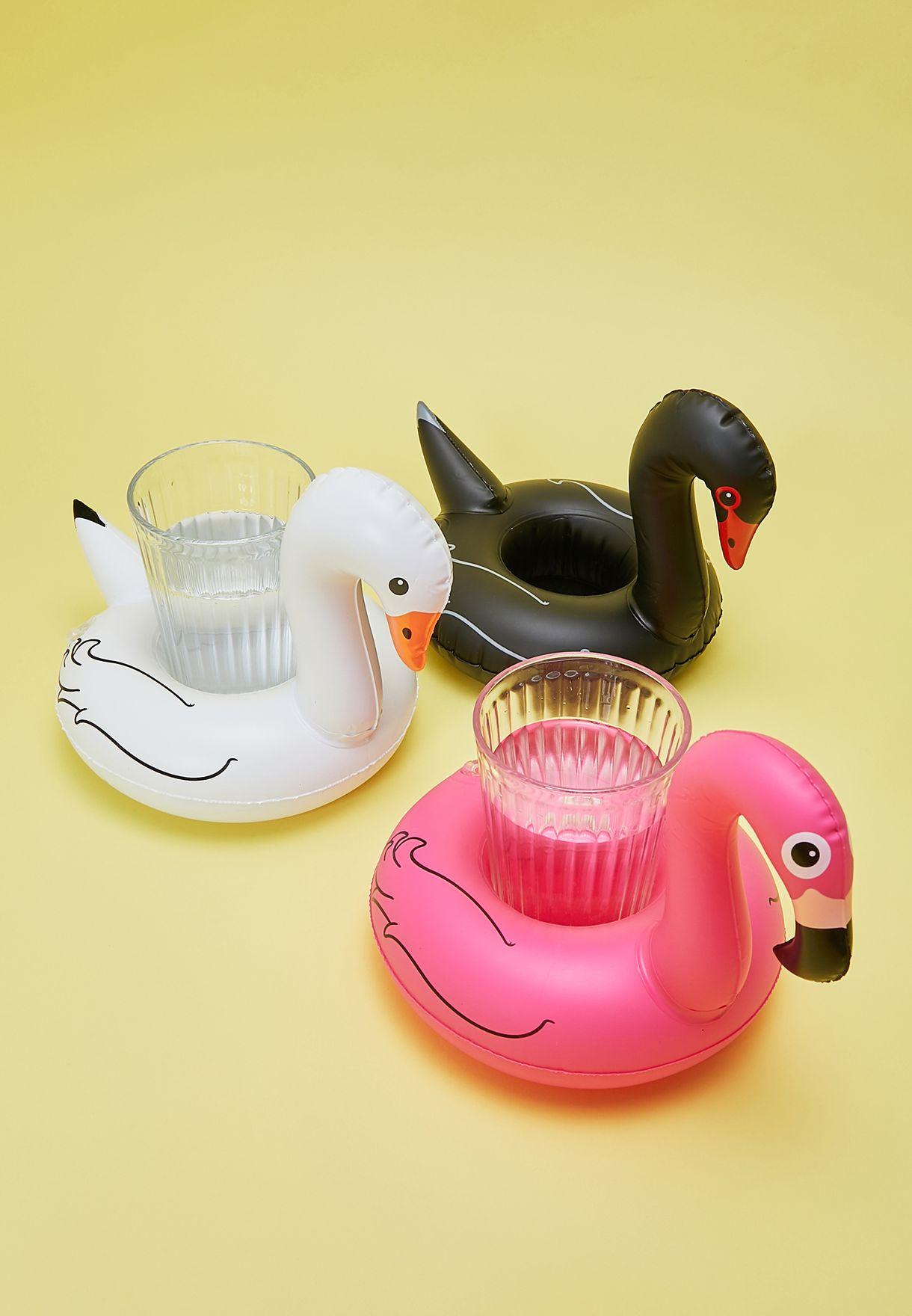 3 Pack Flamingo Beverage Boat