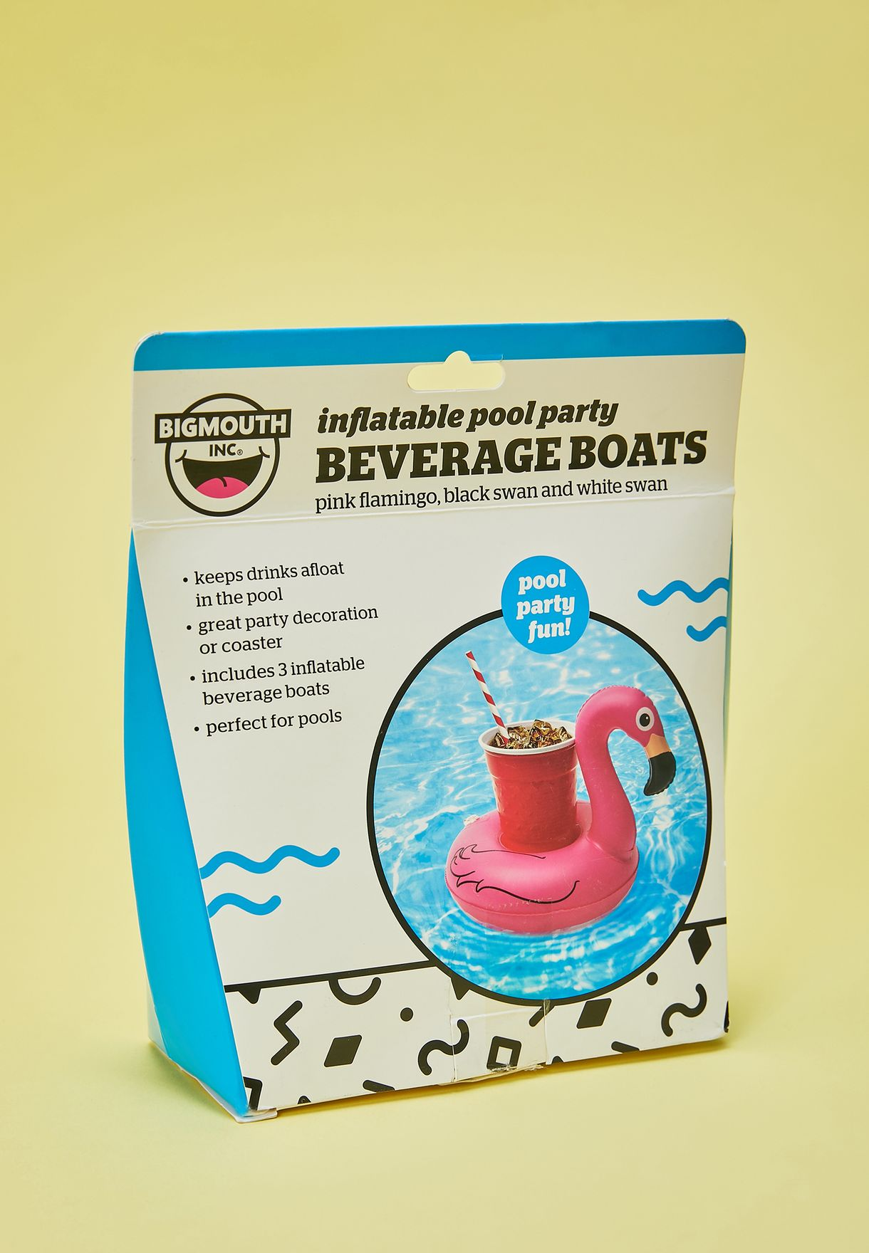 3 Pack Flamingo Beverage Boat