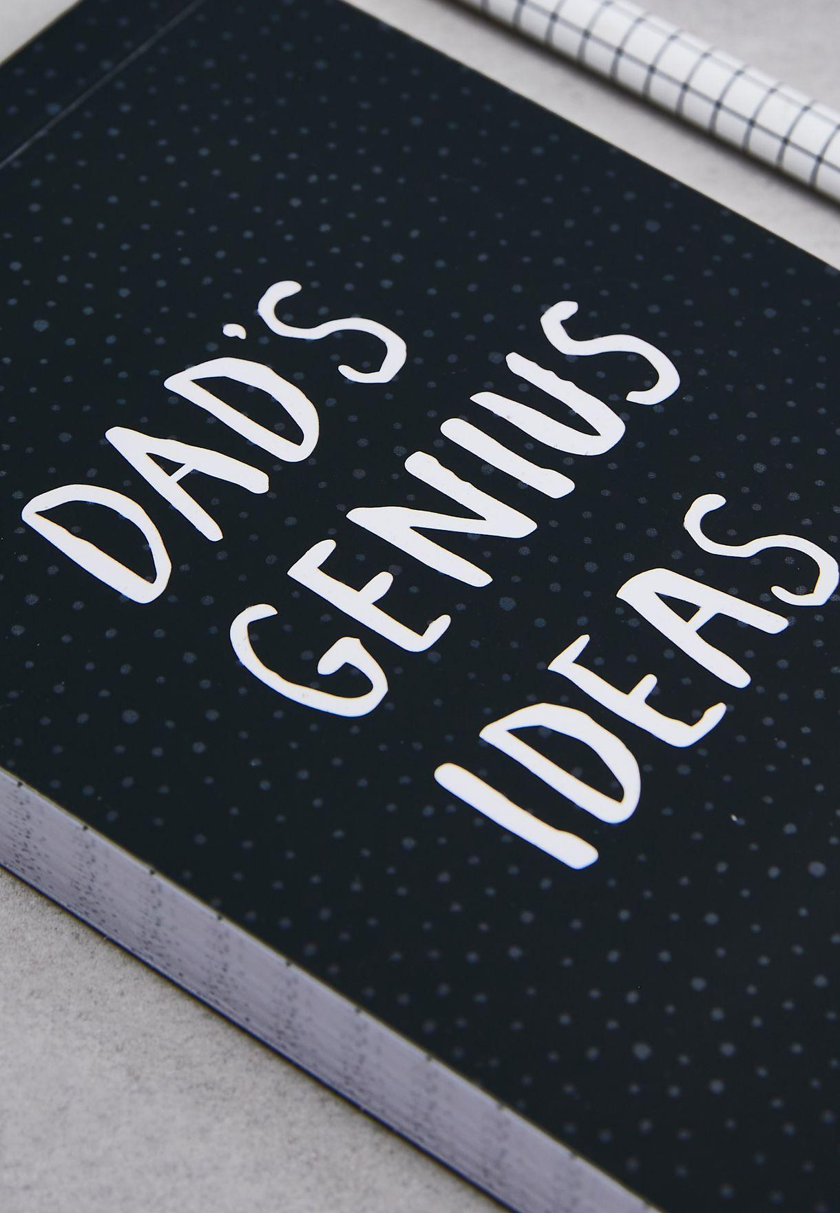 Dad`S Genius Ideas Pocket Notepad