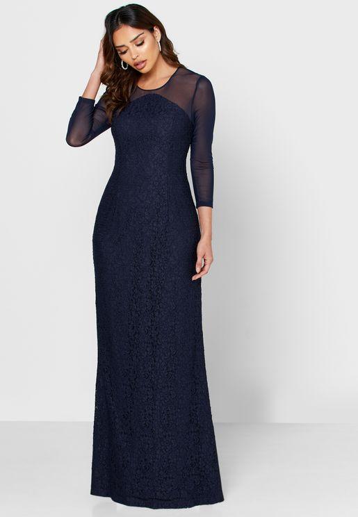 Mesh Detail Dress