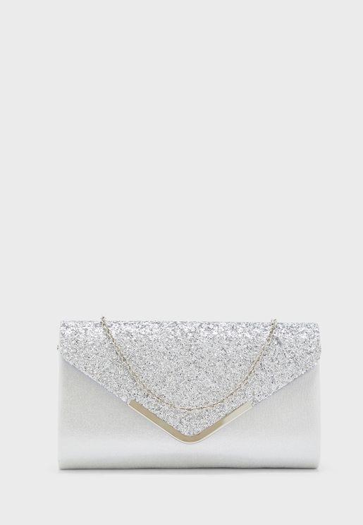 Shimmer Glitter Clutch Bag