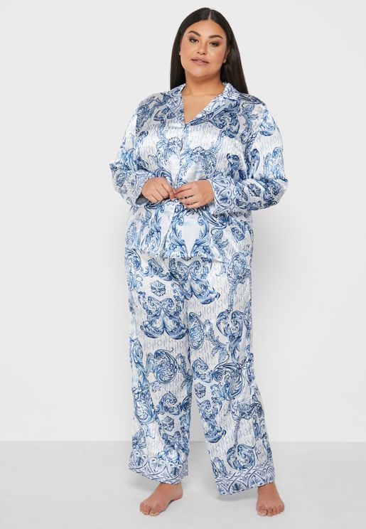 Printed Pyjama Satin Trouer
