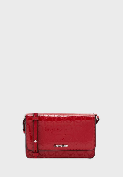 Textured Flap Over Crossbody