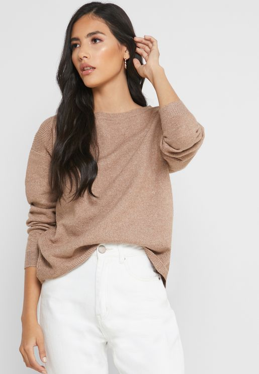 Owl Neck Sweater