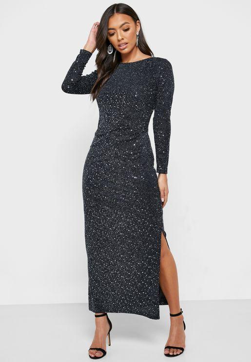 فستان لامع