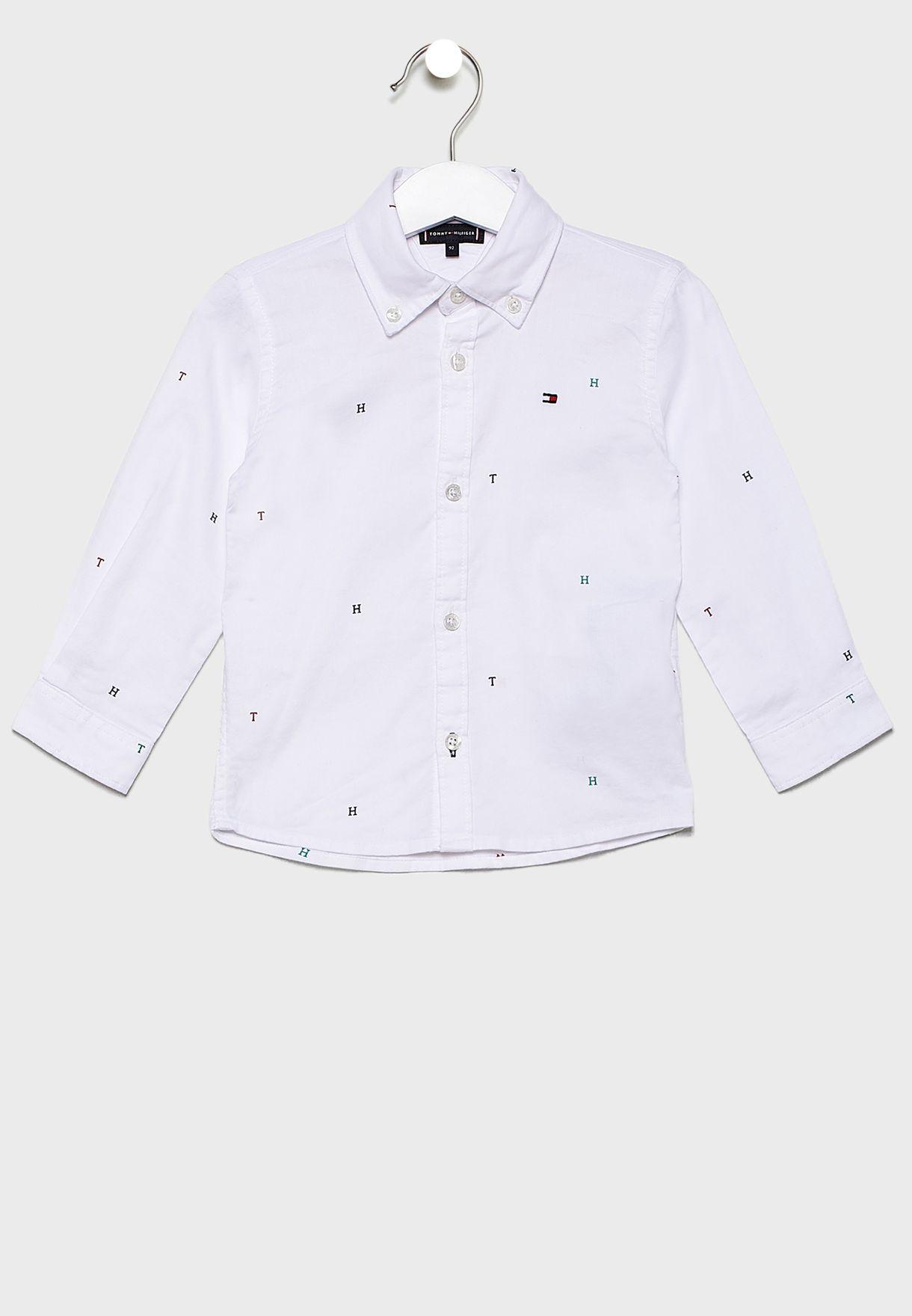 قميص بازرار امامية للاطفال