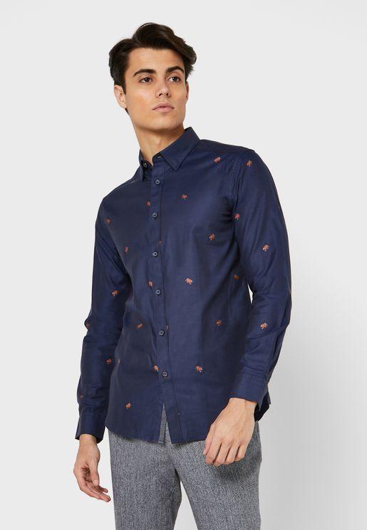 Leopard Button Down Shirt