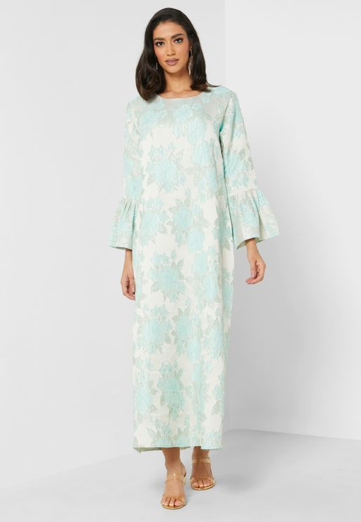 Gardenia Floral Print Dress