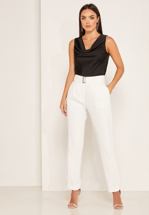 Mia  Belted Tailored Trousers