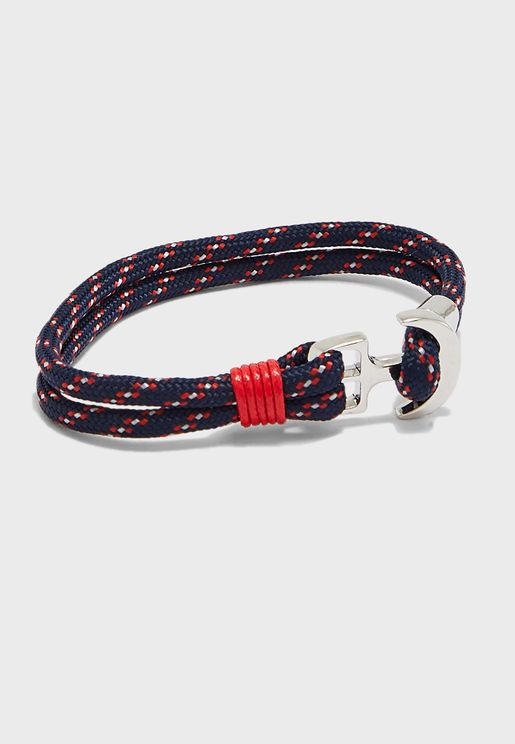 Anchor Lock Cord Bracelet