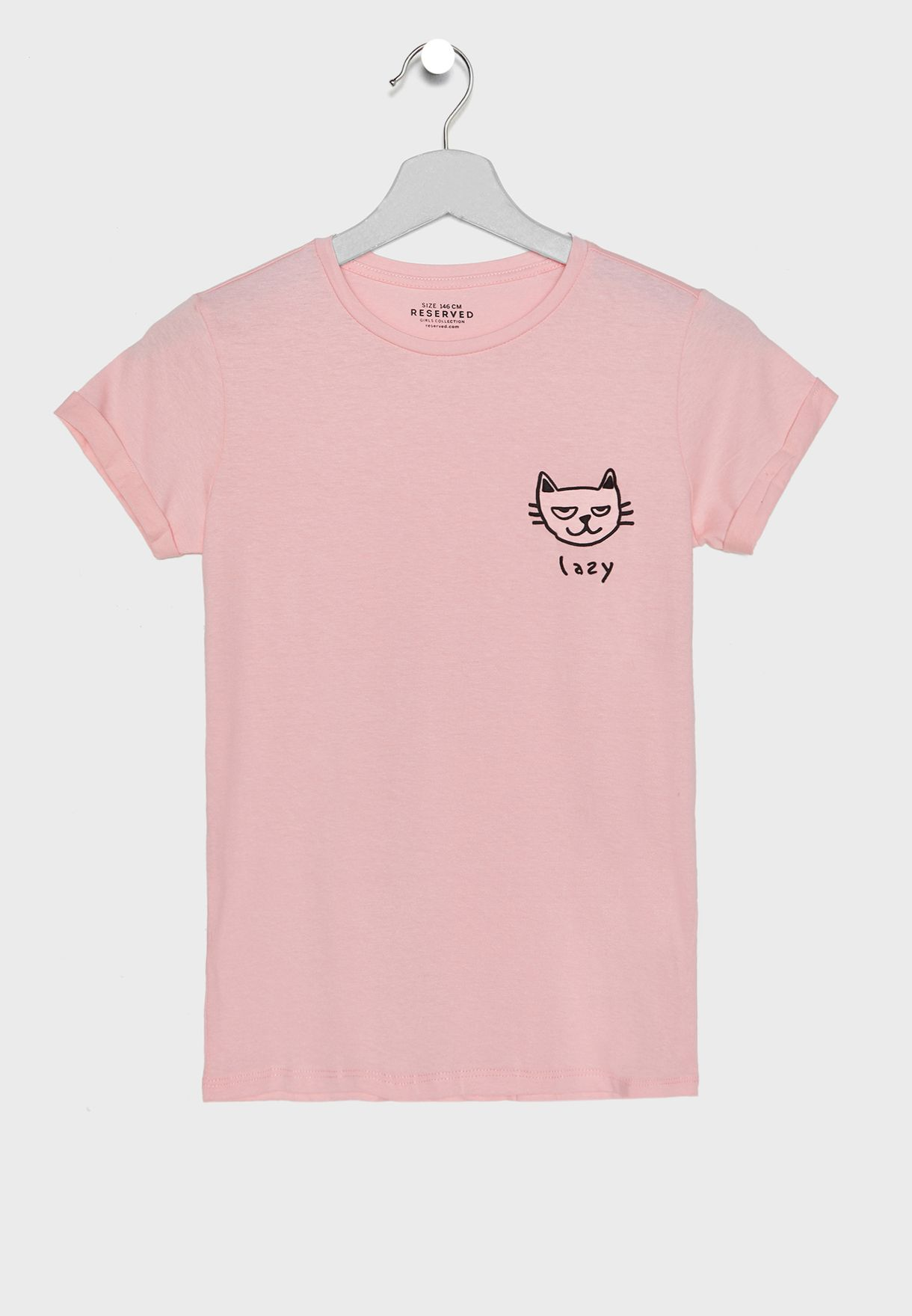 7195d69dbcb7 Shop Reserved pink Teen Lazy Slogan T-Shirt UW295-38X for Kids in ...