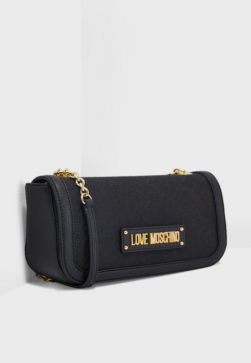 Logo Print Flap Over  Crossbody