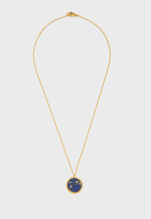Aries Zodiac Sign Pendant Necklace