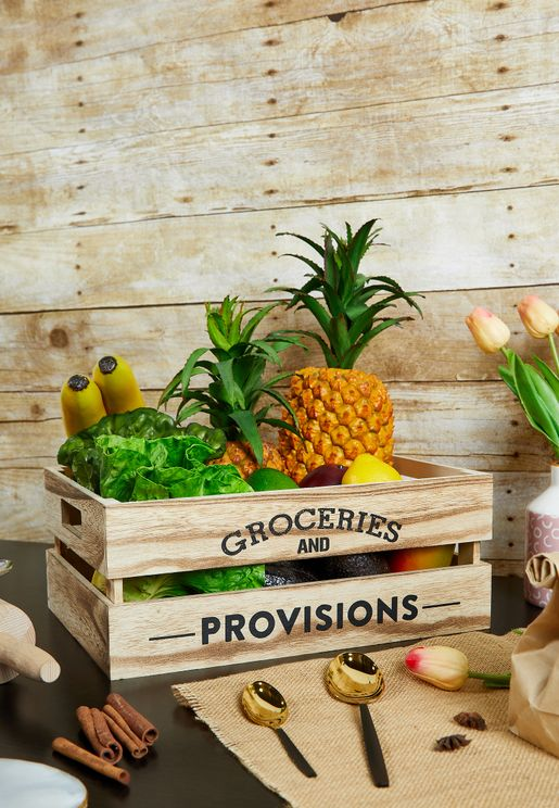 Groceries & Provisions Storage Crate