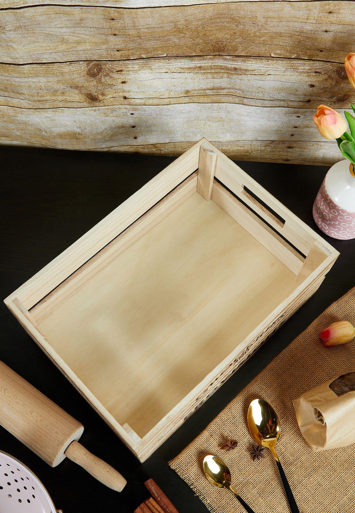 صندوق تخزين خشبي