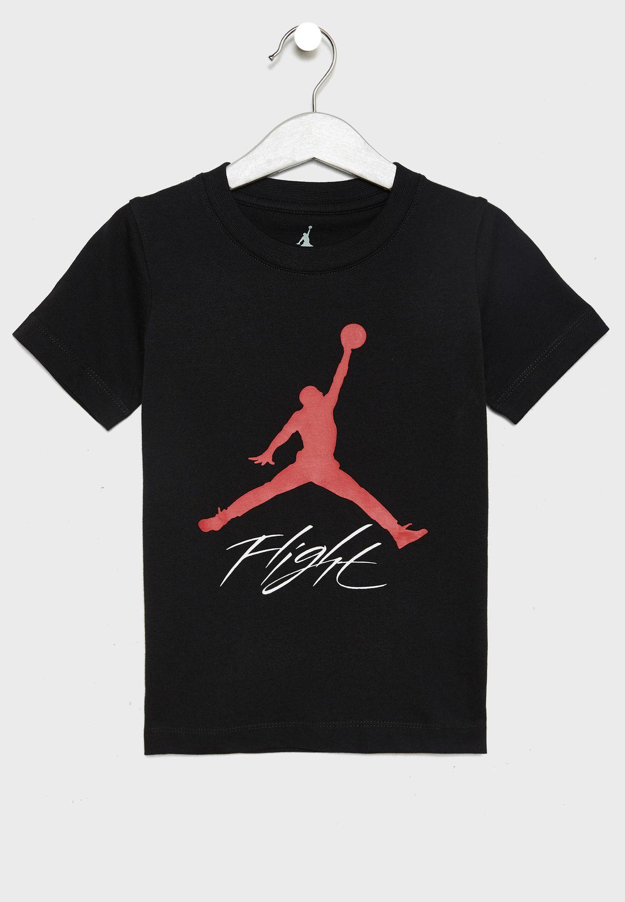 e18d7b7a99cbfb Shop Nike black Kids Jordan Jumpman Flight T-Shirt 856109-023 for ...