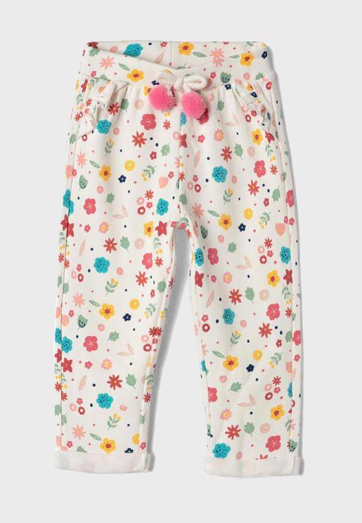 Infant Floral Sweatpants