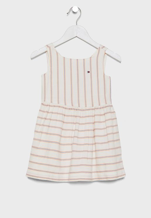 Kids Striped Skater Dress