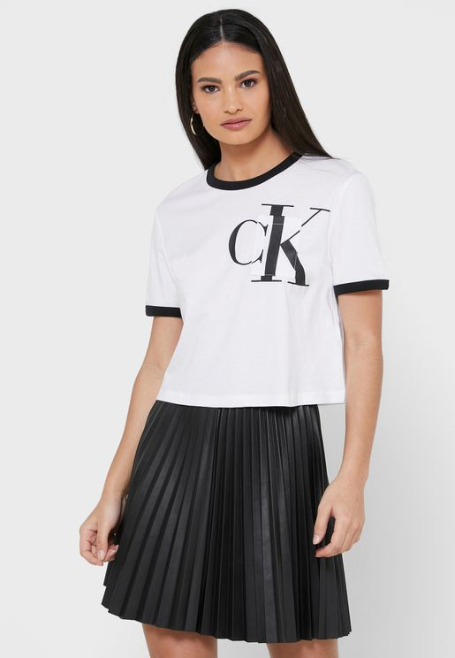 Logo Trim Crop T-Shirt