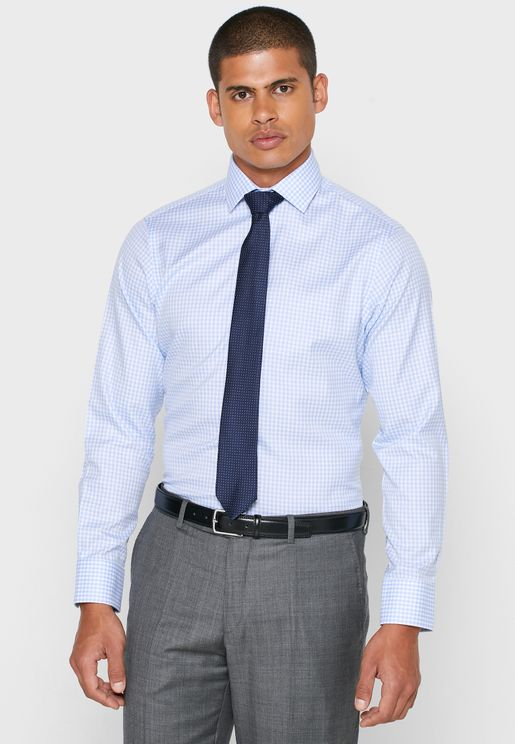 Gingham Slim Fit Shirt
